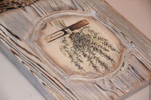 Прихожая ручной работы. Ярмарка Мастеров - ручная работа. Купить РОЗМАРИН. Handmade. Панно, обжиг, травы, разноцветный