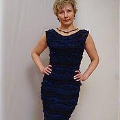 """Одежда ручной работы. Ярмарка Мастеров - ручная работа Платье """"Глубокое синее море"""". Handmade."""