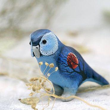 Для дома и интерьера ручной работы. Ярмарка Мастеров - ручная работа Какапо Лунный Странник, фигурка попугая, статуэтка, скульптура. Handmade.