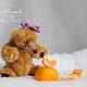 Мишки Тедди ручной работы. Ярмарка Мастеров - ручная работа. Купить медведица Тыковка. Handmade. Рыжий, маленькая девочка, для девочки