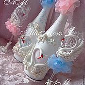 """Свадебный салон ручной работы. Ярмарка Мастеров - ручная работа Свадебный набор """"Ах , эти лебеди!"""". Handmade."""