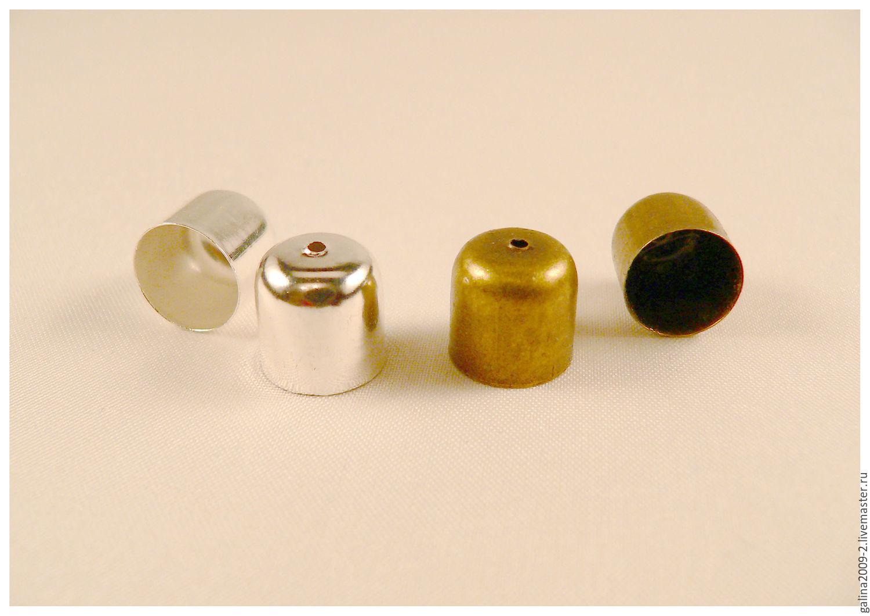 Колпачок для жгутов - 12 мм., 2 цвета, Для украшений, Пушкино, Фото №1
