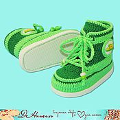 Работы для детей, handmade. Livemaster - original item Booties Shoes, summer booties on his shoes, footwear for children. Handmade.