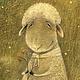 Фантазийные сюжеты ручной работы. Ярмарка Мастеров - ручная работа. Купить Портрет счастливой овечки...Картина-принт на холсте.. Handmade.