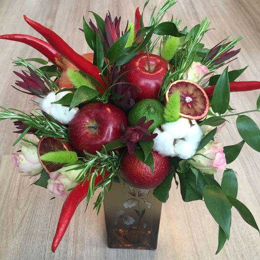 Букеты ручной работы. Ярмарка Мастеров - ручная работа. Купить Букет из фруктов и цветов. Handmade. Съедобный букет, оригинальный подарок