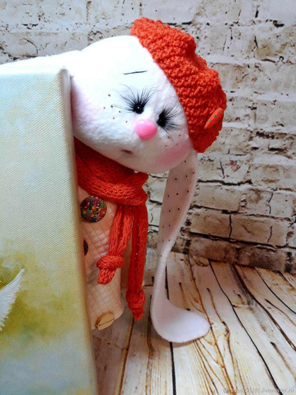 """Игрушки животные, ручной работы. Ярмарка Мастеров - ручная работа. Купить Зайка """"Вероника"""". Handmade. 8 марта, текстильный заяц"""