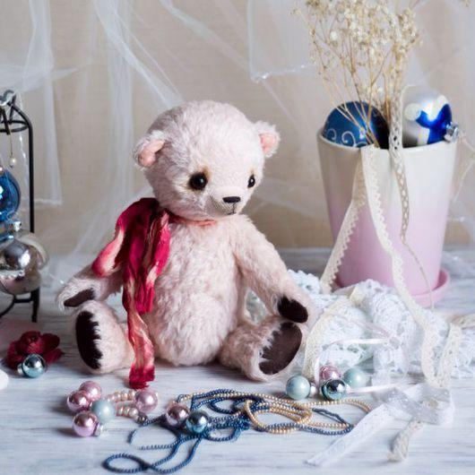 Мишки Тедди ручной работы. Ярмарка Мастеров - ручная работа. Купить Клубнично-зефирный. Handmade. Бледно-розовый, подарок девушке