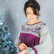 """Одежда ручной работы. Ярмарка Мастеров - ручная работа Платье """"Птички крестиком"""". Handmade."""