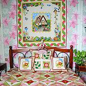 Для дома и интерьера ручной работы. Ярмарка Мастеров - ручная работа пэчворк комплект   НЕЖНОСТЬ   пэчворк покрывало подушки пэчворк панно. Handmade.