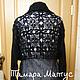 Пальто летнее `Черный жемчуг` выполнено крючком. Авторская модель Тамары Матус. Ярмарка Мастеров.