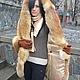 Верхняя одежда ручной работы. Пальто-куртка зимнее замшевое с отделкой мехом лисы и капюшоном. Ирина (dneproart). Ярмарка Мастеров.