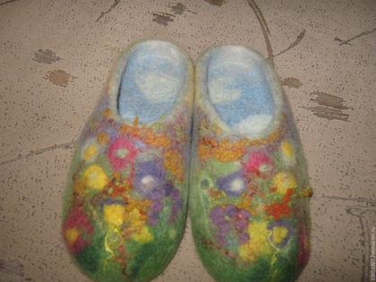 Обувь ручной работы. Ярмарка Мастеров - ручная работа. Купить Тапочки из шерсти