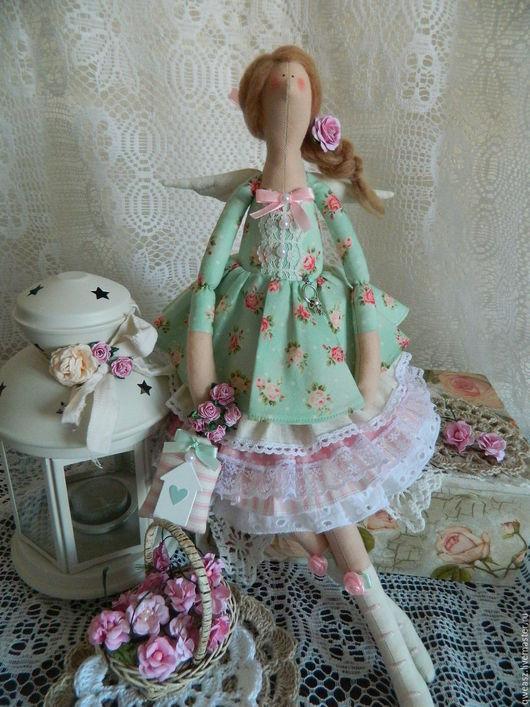 Куклы Тильды ручной работы. Ярмарка Мастеров - ручная работа. Купить Тильда  фея домашнего уюта. Handmade. Мятный