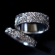 Свадебный салон ручной работы. Ярмарка Мастеров - ручная работа Обручальные кольца c текстурой. Handmade.