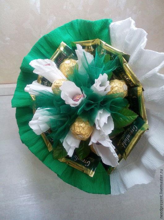 """Букеты ручной работы. Ярмарка Мастеров - ручная работа. Купить Букет из конфет """"Летняя сказка"""". Handmade. Ярко-зелёный, маме"""
