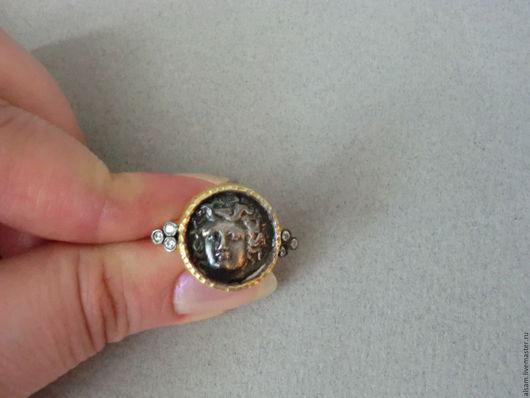 """Кольца ручной работы. Ярмарка Мастеров - ручная работа. Купить Кольцо """"Ларисса"""". Handmade. Темно-серый, оксидированное серебро"""