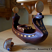 Для дома и интерьера handmade. Livemaster - original item Candle holder of wood Boat. Handmade.