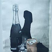 """Картины ручной работы. Ярмарка Мастеров - ручная работа Картина тушью """"Натюрморт со свечой"""". Handmade."""