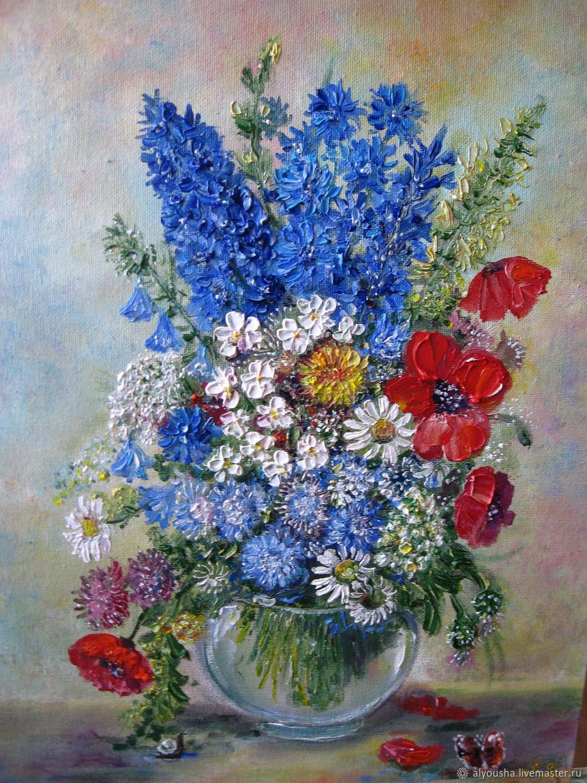 """Картина маслом """"Букет цветов"""", Картины, Зеленоград,  Фото №1"""