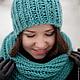мятный, зелёный, морская волна,бирюзовый, шапка, шапка вязаная, шапка женская, шарф,шарф вязаный, вязаный комплект, снуд, шапка и шарф вязаные, шапка и снуд вязаные, купить вязаный комплект, купить ша