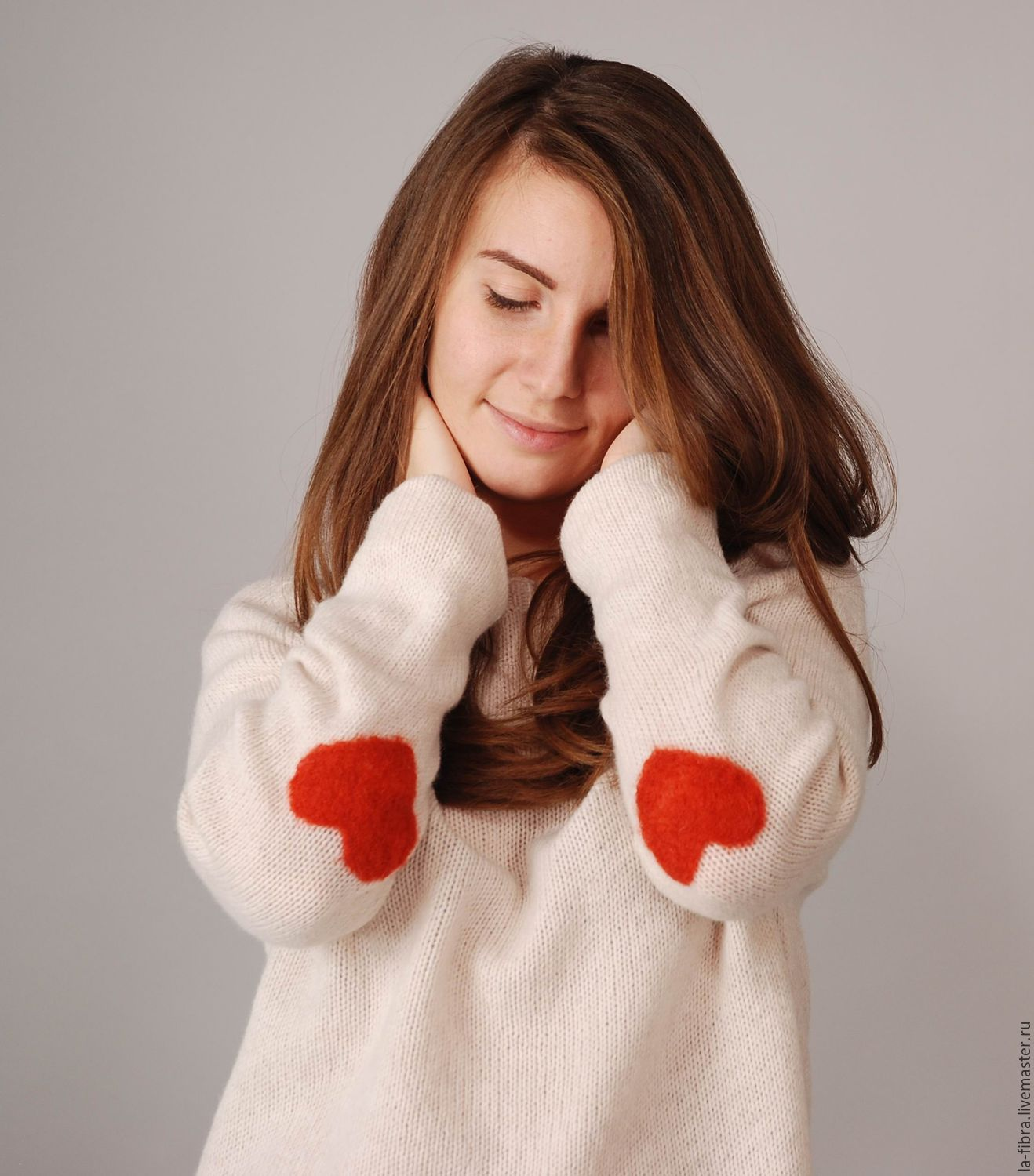 white sweater with love, Sweaters, Moscow,  Фото №1