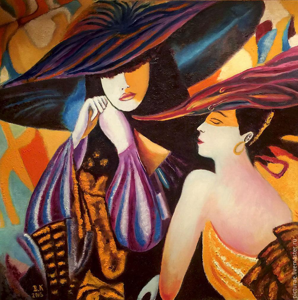 Картина маслом на холсте Дамы в Шляпах, Картины, Москва,  Фото №1