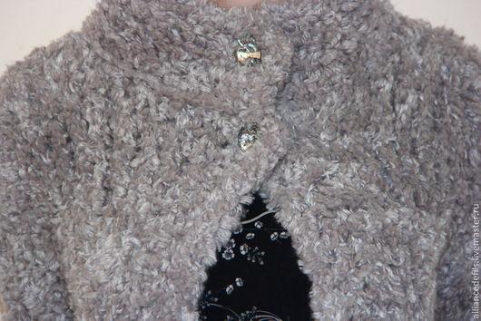 """Верхняя одежда ручной работы. Ярмарка Мастеров - ручная работа. Купить Вязаный кардиган """"Роскошь меха"""". Handmade. Серый, весна"""