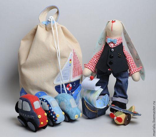 Куклы Тильды ручной работы. Ярмарка Мастеров - ручная работа. Купить Зайчик для мальчика.. Handmade. Бежевый, машинка текстильная