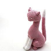 """Куклы и игрушки ручной работы. Ярмарка Мастеров - ручная работа Кот вязаный """"Маркиз"""" (вязаная игрушка кот/котик/котенок) в подарок. Handmade."""