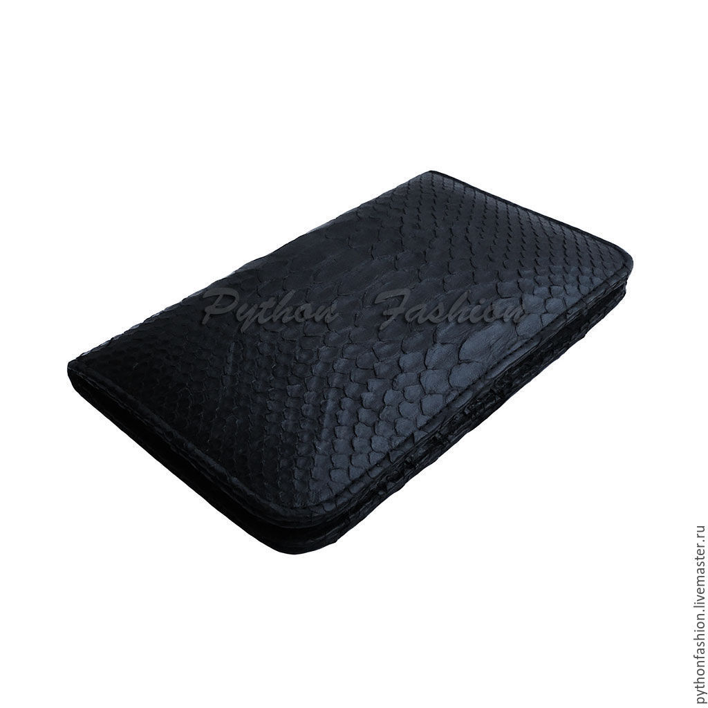 purse from Python. Men's wallet from Python. Men's wallet handmade. Large wallet made from Python. Roomy purse to order. Stylish men's wallet. Women's purse from Python.