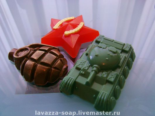 Подарочные наборы косметики ручной работы. Ярмарка Мастеров - ручная работа. Купить Мыло набор Военный в подарочной упаковке. Handmade.
