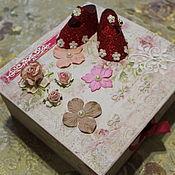 Сундучки ручной работы. Ярмарка Мастеров - ручная работа Свадебная шкатулка на девочку. Handmade.