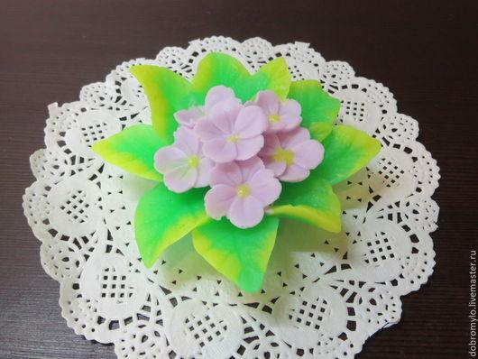 Мыло ручной работы. Ярмарка Мастеров - ручная работа. Купить мыло-фиалка цветок. Handmade. Фиолетовый, жожоба