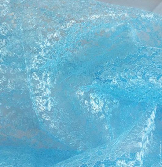 Шитье ручной работы. Ярмарка Мастеров - ручная работа. Купить Гипюр Небесно голубой. Handmade. Гипюр, ткань для шитья