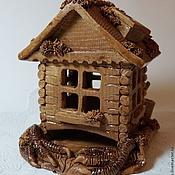 """Для дома и интерьера ручной работы. Ярмарка Мастеров - ручная работа Чайный домик """"Дом Бабы Тяги"""". Керамика. Handmade."""
