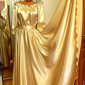 Одежда ручной работы. Ярмарка Мастеров - ручная работа Платье в пол Звездная пыль золотое. Handmade.