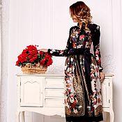 Одежда handmade. Livemaster - original item Silk MIDI dress shawls. Handmade.
