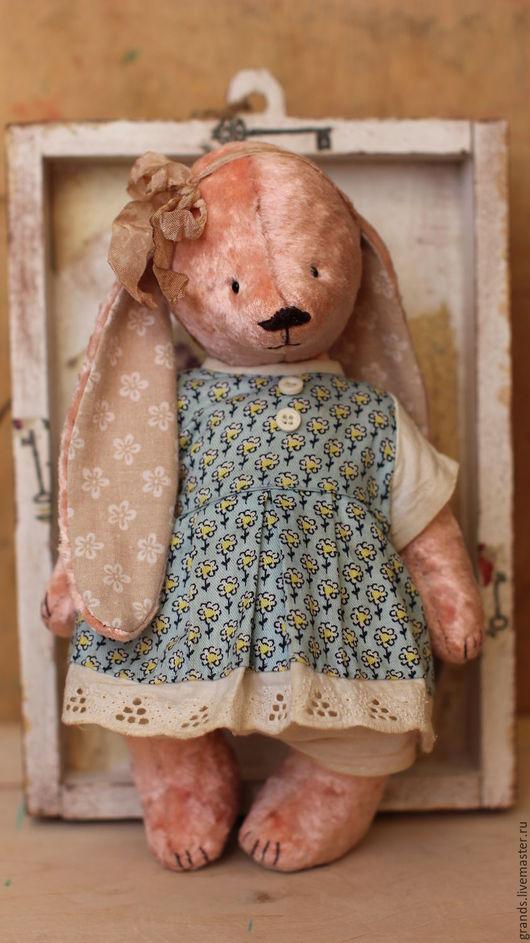 Мишки Тедди ручной работы. Ярмарка Мастеров - ручная работа. Купить Анечка.. Handmade. Бледно-розовый, тедди медведи