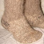 Аксессуары handmade. Livemaster - original item Socks cashmere Winter Прогулка2 of dog hair. Handmade.