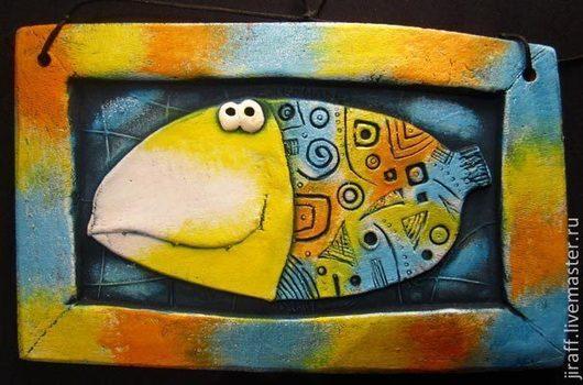 """Этно ручной работы. Ярмарка Мастеров - ручная работа. Купить Рыба """"Щука"""". Handmade. Рыба, рыбы, панно настенное"""
