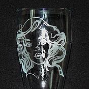 Посуда handmade. Livemaster - original item The pinup. Beer glass.. Handmade.