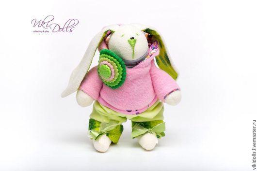 Игрушки животные, ручной работы. Ярмарка Мастеров - ручная работа. Купить Тильда-зайчик в толстовочке. Handmade. Розовый, тильда-заяц