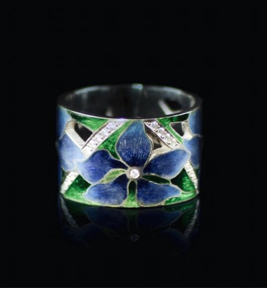 """Кольца ручной работы. Ярмарка Мастеров - ручная работа. Купить кольцо серебряное """"клематисы"""". Handmade. Кольцо ручной работы, цветы"""