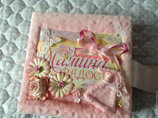 Подарки для новорожденных, ручной работы. Ярмарка Мастеров - ручная работа. Купить Альбом для новорождённой девочки. Handmade. Розовый, альбом для малышки
