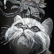 """Сумки и аксессуары ручной работы. Ярмарка Мастеров - ручная работа сумка """"Любопытный кот"""". Handmade."""