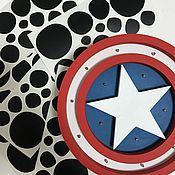 Для дома и интерьера ручной работы. Ярмарка Мастеров - ручная работа Светильник щит Капитан Америка. Handmade.