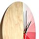 Часы для дома ручной работы. Часы настенные Эсла. Часы ручной работы. Ansem-store. Ярмарка Мастеров. Розовый