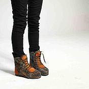 """Обувь ручной работы. Ярмарка Мастеров - ручная работа Валяные ботинки """"Золотые кудри"""". Handmade."""