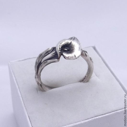 Кольца ручной работы. Ярмарка Мастеров - ручная работа. Купить Элегантное кольцо из столового серебра 925 Reed & Barton Белокрыльник. Handmade.