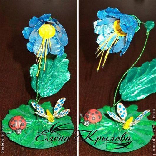 """Миниатюрные модели ручной работы. Ярмарка Мастеров - ручная работа. Купить Сувенир - """"Голубой подснежник"""".. Handmade. Голубой, весна, экостиль"""